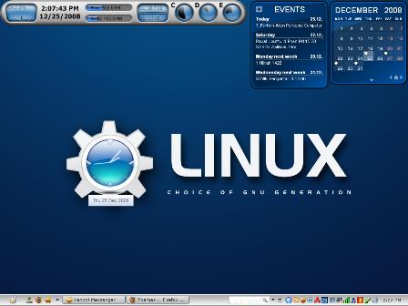 KDE Desktop Screenshot on Windows XP SP3