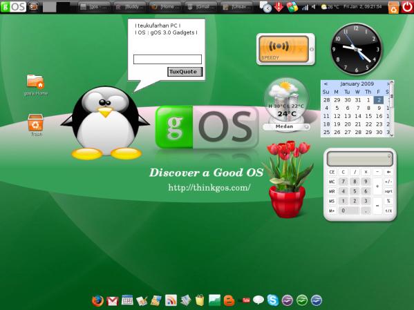 gOS 3.0 Gadgets (Customized by Farhan)