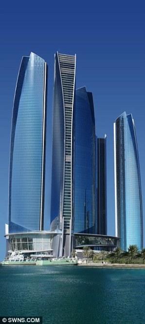 Etihad Towers in Abu Dhabi,